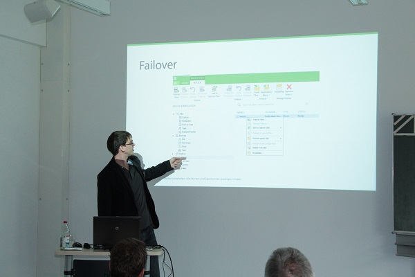 Daniel Schlinge stellte Cloud Connect von veeam vor